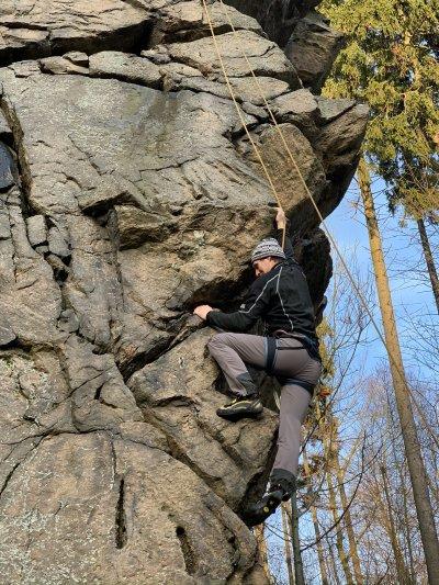 Novoroční lezení - Mladkov