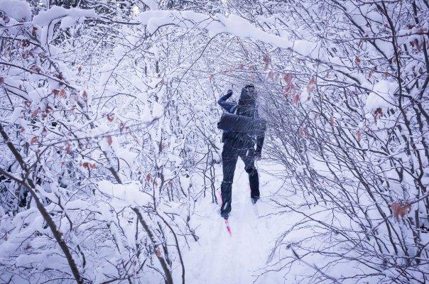 Zimní přejezd Rychleb