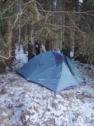 Zimní přejezd Novohradských hor